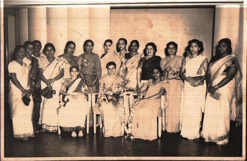 Members with Mrs Indira Gandhi at the Club premisis in Balestier